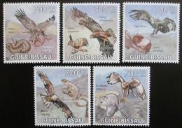 Poštovní známky Guinea-Bissau 2009 Dravci Mi# 4414-18 Kat 14€