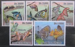Poštovní známky Svatý Tomáš 2009 Motýli Mi# 4108-12 Kat 12€