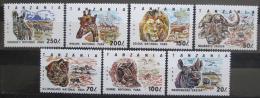 Poštovní známky Tanzánie 1993 Národní parky Mi# 1607-13