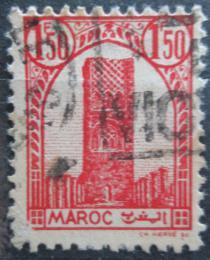 Poštovní známka Francouzské Maroko 1943 Hassanova vìž Mi# 197