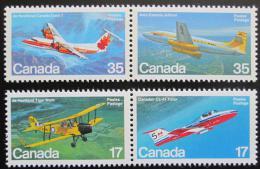 Poštovní známky Kanada 1981 Letadla Mi# 814-17