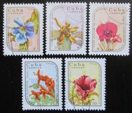 Poštovní známky Kuba 1986 Exotické kvìtiny Mi# 2990-94