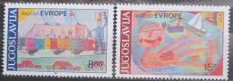 Poštovní známky Jugoslávie 1982 Dìtské kresby Mi# 1945-46