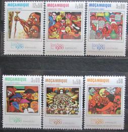 Poštovní známky Mosambik 1980 Výstava LONDON, umìní Mi# 751-56