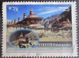 Poštovní známka Nepál 2011 Klášter Yetser Jangchubling Mi# 1036