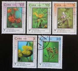 Poštovní známky Kuba 1990 Kvìtiny Mi# 3393-97