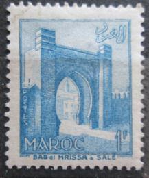 Poštovní známka Francouzské Maroko 1955 Mìstská brána Bab Mrisa Mi# 389