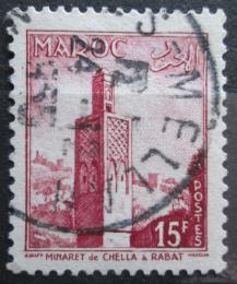 Poštovní známka Francouzské Maroko 1955 Minaret Mi# 397