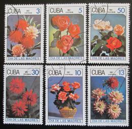 Poštovní známky Kuba 1987 Kvìtiny, Den matek Mi# 3093-98