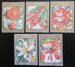 Poštovní známky Kuba 1984 Karibské kvìtiny Mi# 2838-42