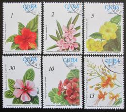 Poštovní známky Kuba 1977 Kvìtiny Mi# 2217-22