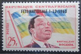 Poštovní známka SAR 1960 Prezident a vlajka pøetisk Mi# 15