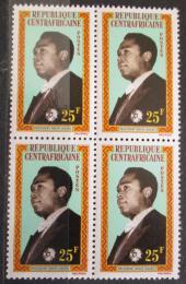 Poštovní známky SAR 1962 Prezident Dacko ètyøblok Mi# 29