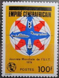 Poštovní známka SAR 1977 Svìtový den telekomunikace pøetisk Mi# 448
