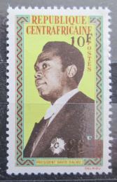 Poštovní známka SAR 1965 Prezident Dacko pøetisk Mi# 100 Kat 6.50€