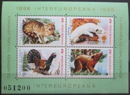Poštovní známky Rumunsko 1986 Fauna Mi# Block 223