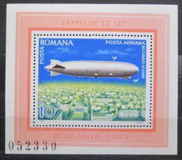 Poštovní známka Rumunsko 1978 Vzducholoï LZ-127 Mi# Block 148