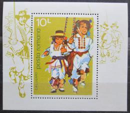 Poštovní známka Rumunsko 1977 Taneèníci Mi# Block 145