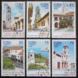Poštovní známky Kuba 2008 Historická mìsta Mi# 5071-76