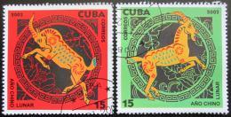 Poštovní známky Kuba 2003 Èínský Nový rok Mi# 4494-95