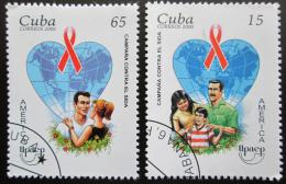 Poštovní známky Kuba 2000 Boj proti AIDS Mi# 4319-20