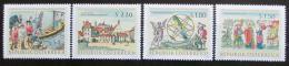 Poštovní známky Rakousko 1966 Národní knihovna Mi# 1218-21