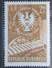 Poštovní známka Rakousko 1959 Tabákový prùmysl Mi# 1060