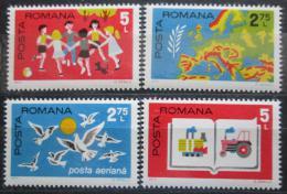 Poštovní známky Rumunsko 1975 Konference bezpeènosti Mi# 3280-83