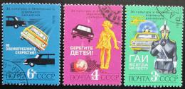 Poštovní známky SSSR 1979 Bezpeènost silnièního provozu Mi# 4903-05