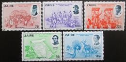 Poštovní známky Zair 1980 Nezávislost Belgie, 150. výroèí Mi# 689-93 Kat 11€ - zvìtšit obrázek