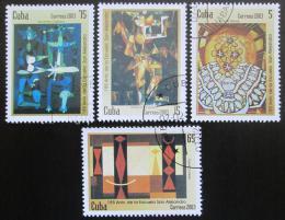 Poštovní známky Kuba 2003 Umìní Mi# 4496-99