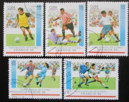 Poštovní známky Kuba 1998 MS ve fotbale Mi# 4084-88