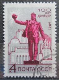 Poštovní známka SSSR 1969 Socha v Donìcku Mi# 3649