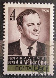 Poštovní známka SSSR 1974 Lev Arcimoviè, fyzik Mi# 4208