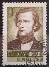 Poštovní známka SSSR 1974 Konstantin Ušinskij, pedagog Mi# 4211