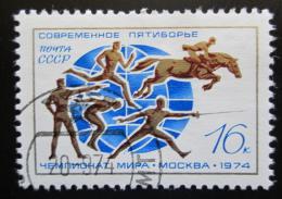 Poštovní známka SSSR 1974 MS v moderním pìtiboji Mi# 4263