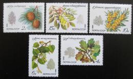 Poštovní známky SSSR 1980 Chránìné stromy Mi# 5002-06