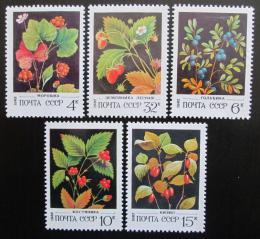 Poštovní známky SSSR 1982 Lesní ovoce Mi# 5155-59
