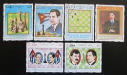 Poštovní známky Kuba 1988 Šachy, Capablanca Mi# 3199-3204 Kat 10€