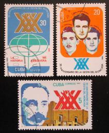 Poštovní známky Kuba 1983 Útok na kasárny Moncada Mi# 2743-45