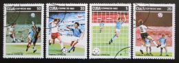 Poštovní známky Kuba 1982 MS ve fotbale Mi# 2685-88