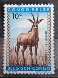 Poštovní známka Belgické Kongo 1959 Antilopa koòská Mi# 343