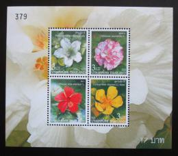 Poštovní známky Thajsko 2005 Kvìtiny, Nový rok Mi# Block 193