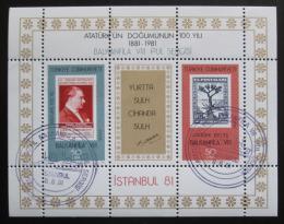 Poštovní známky Turecko 1981 Výstava BALKANFILA Mi# Block 20