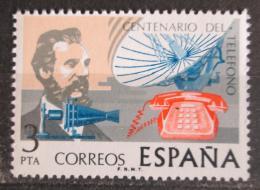 Poštovní známka Španìlsko 1976 Telefon, 100. výroèí Mi# 2204
