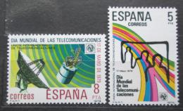 Poštovní známky Španìlsko 1979 Mezinárodní den telekomunikací Mi# 2414-15