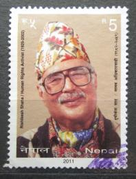 Poštovní známka Nepál 2011 Rishikesh Shaha, politik Mi# 1026
