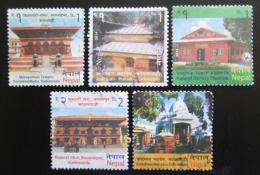 Poštovní známky Nepál 2014 Architektura v Kathmandu Mi# 1134-38