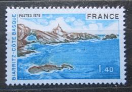 Poštovní známka Francie 1976 Biskajské pobøeží Mi# 1991