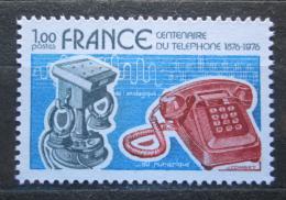 Poštovní známka Francie 1976 Telefon, 100. výroèí Mi# 1992